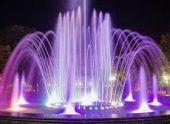 Во Владикавказе открыли светомузыкальный фонтан
